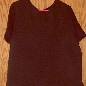 Patterned short sleeve sweatshirt